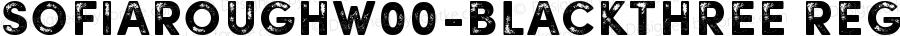 SofiaRoughW00-BlackThree Regular Version 1.00