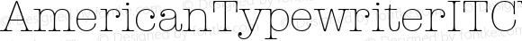 AmericanTypewriterITCW01-Lt Regular Version 1.00