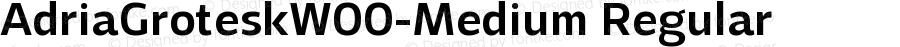 AdriaGroteskW00-Medium Regular Version 1.10