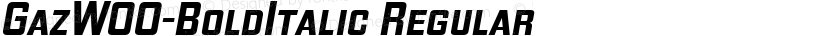 GazW00-BoldItalic Regular Preview Image
