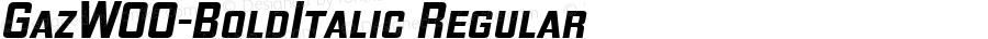 GazW00-BoldItalic Regular Version 1.00
