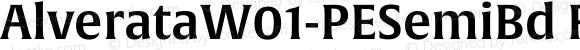 AlverataW01-PESemiBd Regular Version 1.00