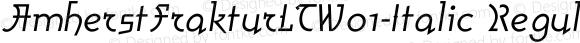 AmherstFrakturLTW01-Italic Regular Version 1.01