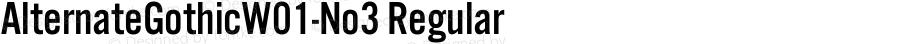 AlternateGothicW01-No3 Regular Version 1.01