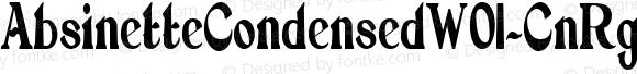 AbsinetteCondensedW01-CnRg Regular Version 1.00