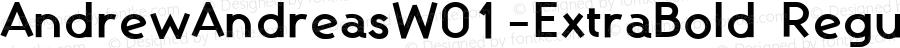 AndrewAndreasW01-ExtraBold Regular Version 1.60