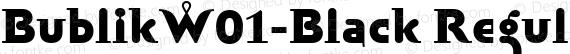 BublikW01-Black Regular preview image