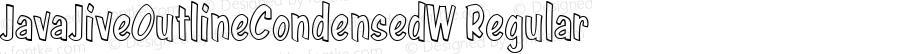JavaJiveOutlineCondensedW Regular Version 1.00