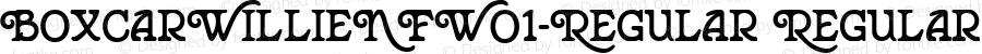 BoxcarWillieNFW01-Regular Regular Version 1.20