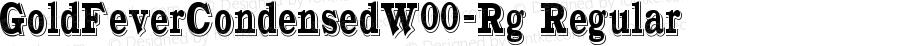 GoldFeverCondensedW00-Rg Regular Version 1.10