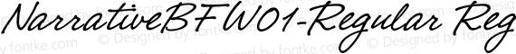 NarrativeBFW01-Regular Regular preview image
