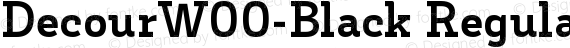 DecourW00-Black Regular preview image