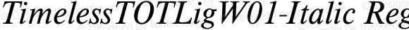 TimelessTOTLigW01-Italic Regular Version 1.00