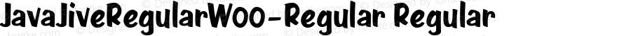 JavaJiveRegularW00-Regular Regular Version 1.00