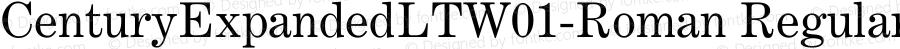 CenturyExpandedLTW01-Roman Regular Version 2.02