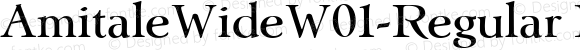 AmitaleWideW01-Regular Regular Version 1.00