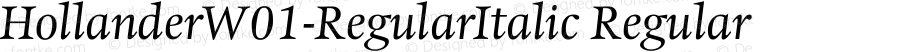 HollanderW01-RegularItalic Regular Version 1.02