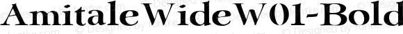 AmitaleWideW01-Bold Regular Version 1.00