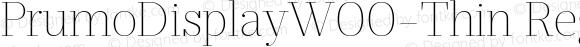 PrumoDisplayW00-Thin Regular Version 1.10