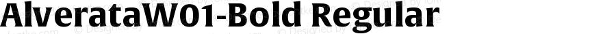 AlverataW01-Bold Regular Version 1.10
