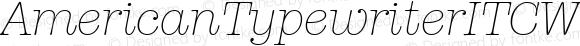 AmericanTypewriterITCW01-LtIt Regular Version 1.00