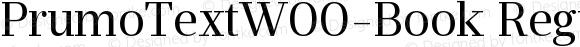 PrumoTextW00-Book Regular Version 1.10