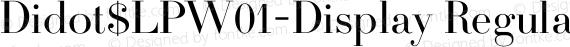 Didot$LPW01-Display Regular preview image