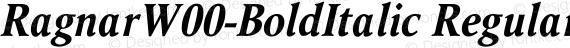 RagnarW00-BoldItalic Regular preview image