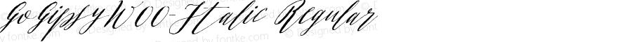 GoGipsyW00-Italic Regular Version 1.00