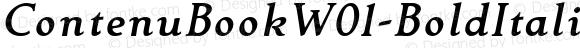 ContenuBookW01-BoldItalic Regular Version 1.00