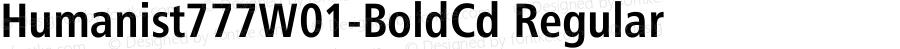 Humanist777W01-BoldCd Regular Version 1.00