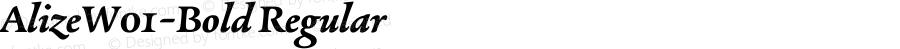 AlizeW01-Bold Regular Version 1.1