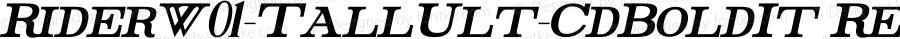 RiderW01-TallUlt-CdBoldIt Regular Version 1.00