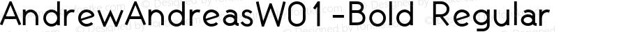 AndrewAndreasW01-Bold Regular Version 1.60