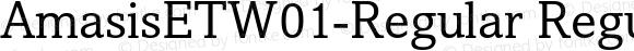 AmasisETW01-Regular Regular Version 1.00