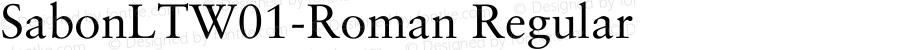 SabonLTW01-Roman Regular Version 2.02