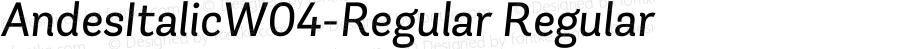 AndesItalicW04-Regular Regular Version 1.00