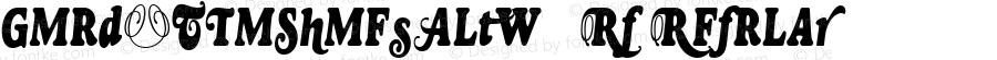 GoudyTwoShoesAltW90-Rg Regular Version 1.00