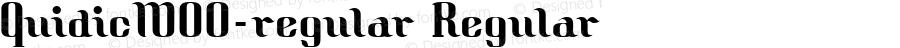 QuidicW00-regular Regular Version 1.40
