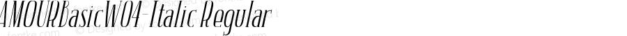 AMOURBasicW04-Italic Regular Version 1.00