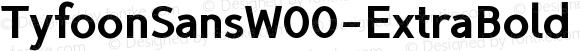 TyfoonSansW00-ExtraBold Regular