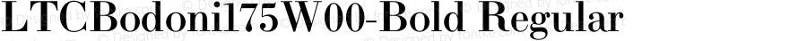 LTCBodoni175W00-Bold Regular Version 1.1