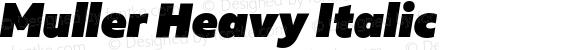 Muller Heavy Italic