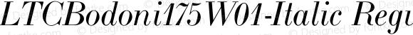 LTCBodoni175W01-Italic Regular Version 1.00
