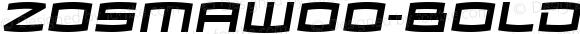 ZosmaW00-BoldItalic Regular Version 2.00