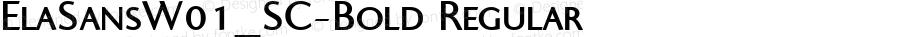 ElaSansW01_SC-Bold Regular Version 1.00