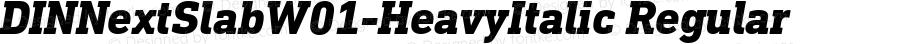 DIN Next Slab W01 Heavy Italic