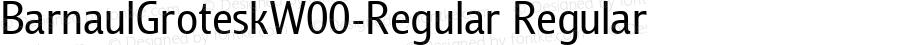 BarnaulGroteskW00-Regular Regular Version 1.00