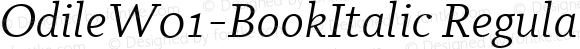 OdileW01-BookItalic Regular Version 2.00