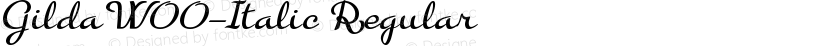 GildaW00-Italic Regular Preview Image
